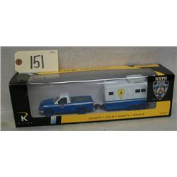 KLine Die Cast NYPD Mounted Police-Pick Up/Trailer