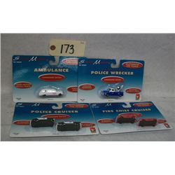 Scene Master Emergency Vehicle Sets (4 sets)