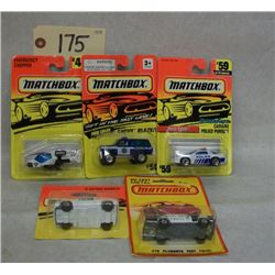 Matchbox Die Cast Emergency Vehicles (Set of 5)