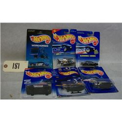 Hotwheels Die Cast Police Vehicles x 6