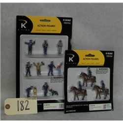 KLine Police Figures Action Figures (2 sets)