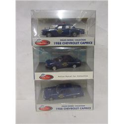 Three Michigan State Die Cast Police Cars