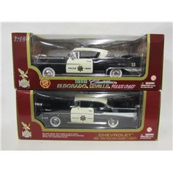 Two Road Legends Police Chief Die Cast Cars