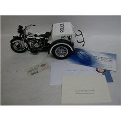 Franklin Mint Harley Davidson Police Servi-Car