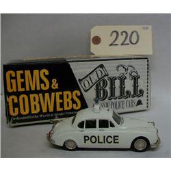 Gems & Cobwebs 1965 Jaguar Police Car Die Cast