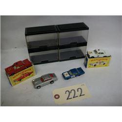 Matchbox Police/Fire Die Cast Cars (3) & Corgi (1)
