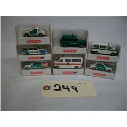 WIKING Die Cast  1:87 scale  Polizie vechicles (7)