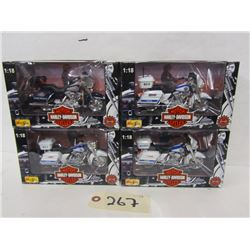Maisto  1:18th Harley Police  (4pcs)