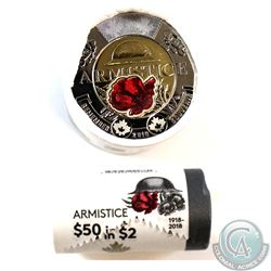 2018 Canada $2 Armistice Special Wrapped Roll of 25 pcs (some coloured)