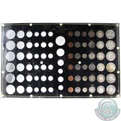 1959-1964 Queen Elizabeth II 6-coin Silver sets in black Acrylic Display with spot for 1953-1958 Set