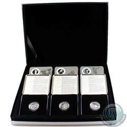 Complete Set of 12x 1998-2000 Canada 50-cent Sterling Silver Sports Coins in Official Royal Canadian