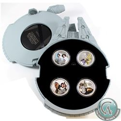 New Zealand Mint - 2011 Niue $2 Star Wars Millennium Falcon 4-coin 1oz Fine Silver Set (Tax Exempt).
