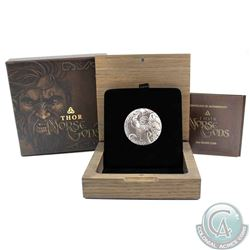 2016 Niue $5 2oz .999 Fine Silver Thor Norse Gods Fine Silver Antiqued Coin (TAX Exempt)