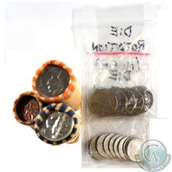 Estate Lot of Canada 1-cent, 5-cent, 10-cent, 25-cent Coins with Minor Rotations. You will receive a