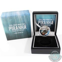 2013 Niue $2 Real River Monsters - Piranha Silver Proof Coin (Tax Exempt)
