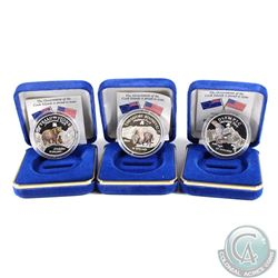 1996 Cook Island $10 Wildlife Preservation Sterling Silver Coloured Coin Collection. You will receiv
