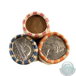 Estate Lot of Canada 1-cent, 5-cent, 25-cent Coins with Minor Rotations. You will receive a range of