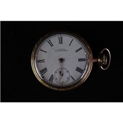 American A.W.W & Co. Waltham Mass produce, an old pocket watch.