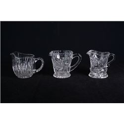 Crystal milk jugs for 3 pieces.