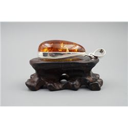 A baltic amber pendant.