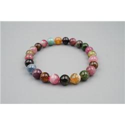 A natural tourmaline bead bracelet.
