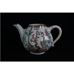 """An England Coalport """"Flora"""" tea pot."""
