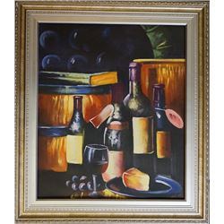 A still life on canvas.