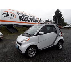 C3---2012 SMART FORTWO COUPE, WHITE, 73,509 KMS