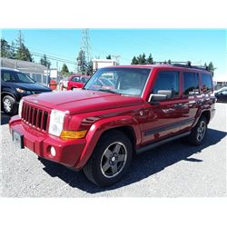 D5---2006 JEEP COMMANDER SUV, RED, 254,768 KMS