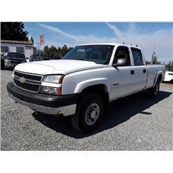 H2---2007 CHEV SILVERADO EXT CAB, WHITE, 261,325 KMS