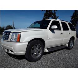 H4---2006 CADILLAC ESCALADE, SUV, WHITE, 385907 KM'S