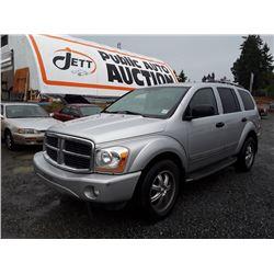 I1---2006 DODGE DURANGO LTD SUV, GREY, 277,323 KMS