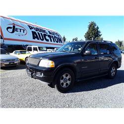 I6---2002 FORD EXPLORER SUV, BLACK, 250,195 KMS