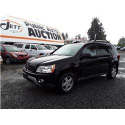 J6---2006 PONTIAC TORRENT SUV, BLACK, 238,814 KMS