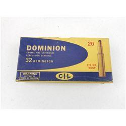 DOMINION 32 REMINGTON AMMO