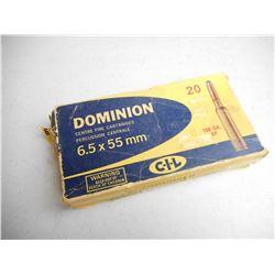 DOMINION 6.5 X 55MM AMMO