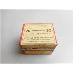 WINFIELD ARMS CORP. 41 SWISS R.F. AMMO