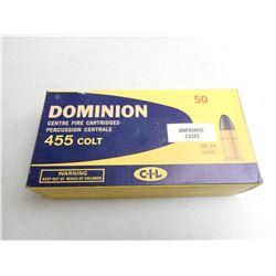 DOMINION 455 COLT AMMO/RELOADS