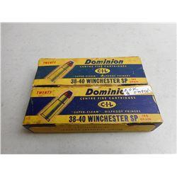 DOMINION 38-40 WINCHESTER AMMO/RELOADS