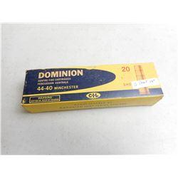 DOMINION 44-40 WINCHESTER SHOT AMMO