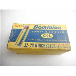 ASSORTED ANTIQUE 32-20 WIN AMMO