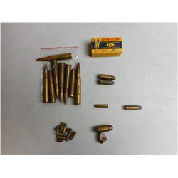 ASSORTED ANTIQUE & MILITARY AMMO