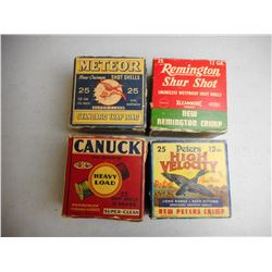 ASSORTED ANTIQUE 12 GA SHOTGUN AMMO