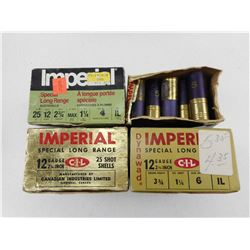 "ASSORTED IMPERIAL 12 GA 2 3/4"" SHOTGUN AMMO"