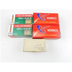 ASSORTED 7.62 X 25 AMMO