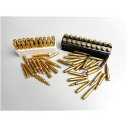 ASSORTED 223 & 222 REM AMMO & BRASS
