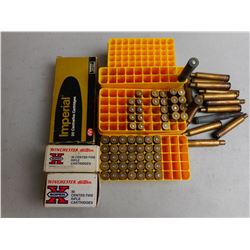 ASSORTED AMMO, RELOADS & BRASS