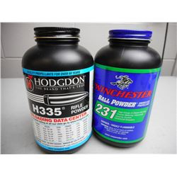 WINCHESTER & HODGDON SMOKELESS POWDER