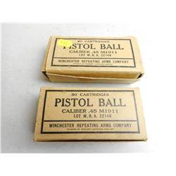 WRA .45 CAL PISTOL BALL AMMO