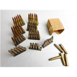 ASSORTED 303 BRITISH AMMO ON STRIPPER CLIPS